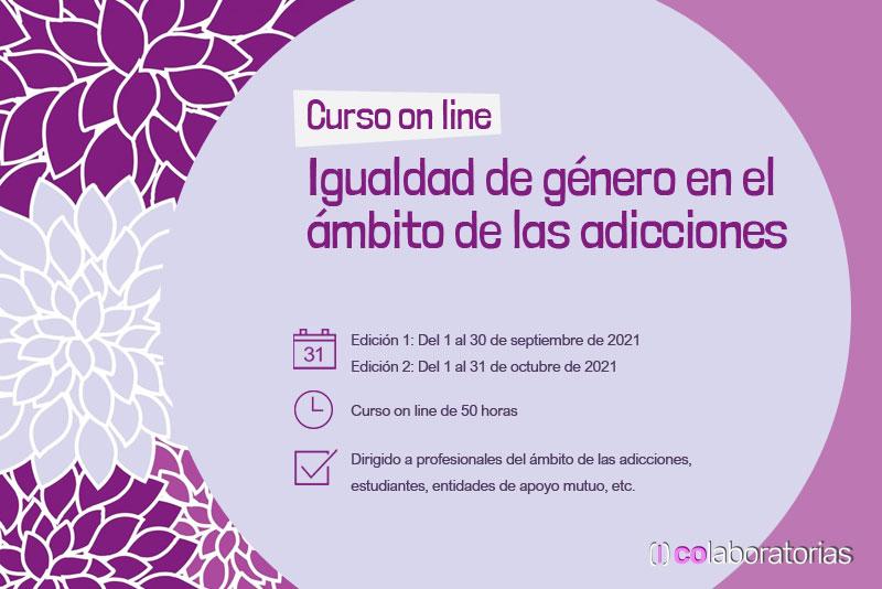 Curso on line Igualdad de género en el ámbito de las adicciones